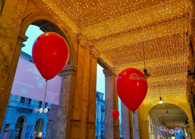 Wedge Powe - Natale in corso 2017 - Ingresso - palloncini